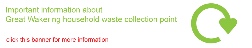 Important information about Great Wakering collection point - click this banner for more information